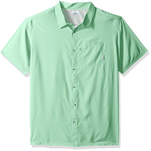 Columbia Mens Slack Tide Camp Shirt, Kelp, Medium