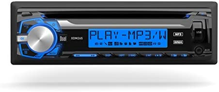 Dual Electronics XDM265 Multimedia Detachable 3.7 inch LCD Single DIN Car Stereo with Built-in CD, USB, MP3 WMA Player