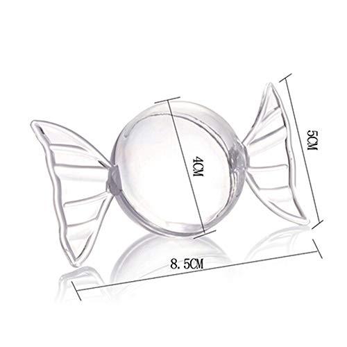 Party Wedding Supplies 7645mm/100ml Disposable Transparent Mini Dessert Bowl 10/Pack,Coffee