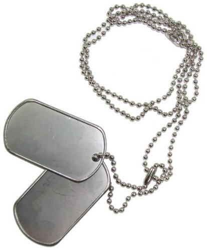amazon com pkg 2 blank dog tags ready to punch each set