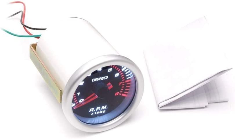 ZYL-YL Tableau de bord de voiture /électrique 52 mm Vitesse moteur pointeur tachym/ètre Tacho jauge Testeur 0~8000 RPM Compteur for 4//6//8 cylindre for les moteurs les voitures modifi/ées les bateaux