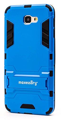 Shockproof Hybrid Case for Samsung Galaxy J5 (Black/Blue) - 2