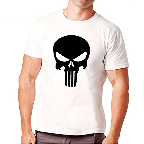 Choice4ever The Punisher Logo Men's T-Shirt (Free Punisher Necklace Included)