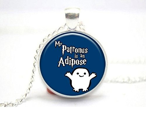 My Patronus is an Adipose Glass Tile Necklace Fandom Crossover