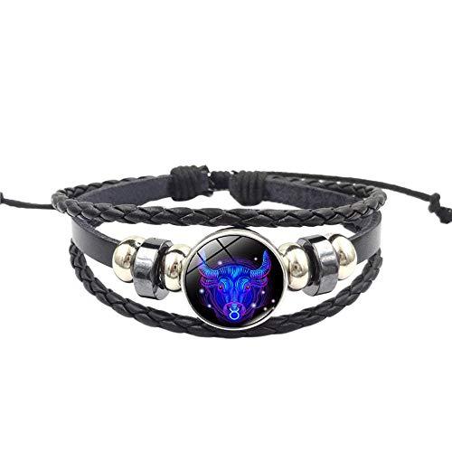 WoCoo China Element Bracelet,12 Zodiac Sign Pendant Multilayer Handmade Wristband,Best Gift for Women(C)