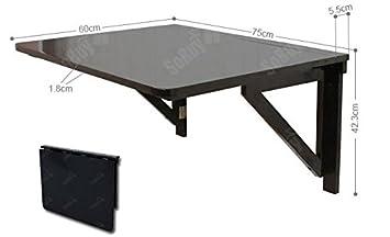 SoBuy® Tavolo da muro pieghevole in legno 75*60cm, senza sedia ...
