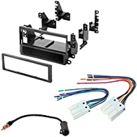 NISSAN 1998 - 2004 FRONTIER CAR STEREO RADIO CD PLAYER RECEIVER INSTALL MOUNTING KIT WIRE HARNESS RADIO ANTENNA ADAPTER
