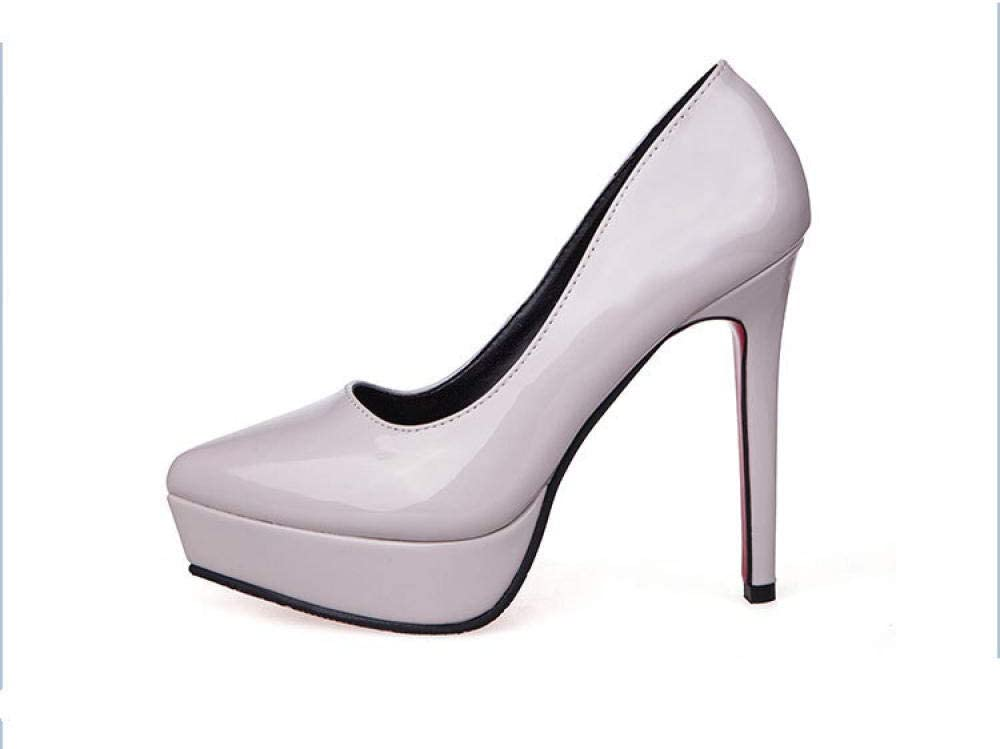 Zapatos Individuales con Plataforma Impermeable,Zapatos de tac/ón Stiletto Zapatos HI SBM Tac/ón Alto Primavera Verano Sandalias,Tacones Ultra Altos Puntiagudos