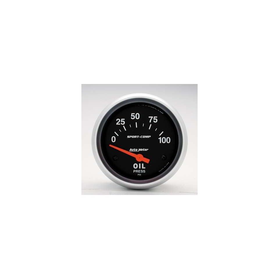 Auto Meter Sport Comp Oil Pressure Gauge   3522