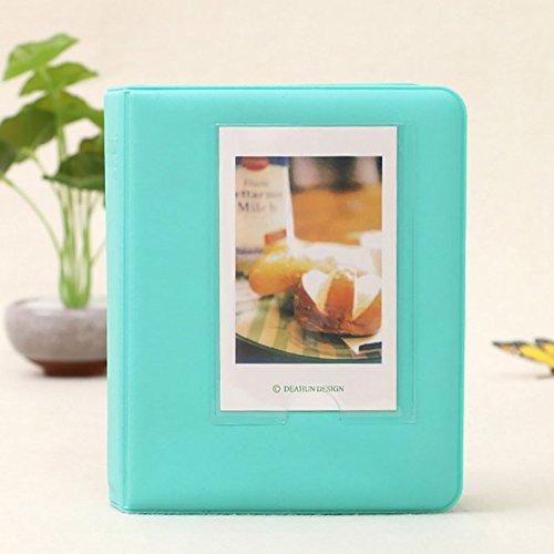 Hanbaili (mint green)Mini Album, 64 Pockets Instant Photo Album For Polaroid Fujifilm Instax Mini 7 7S 8 9 Camera
