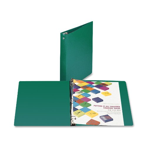 ACCO AccoHide Round Ring Binder, 8.5 x 11 Inches, 1 Inch Capacity, Semi-Rigid Cover, Forest Green (A7039716A)