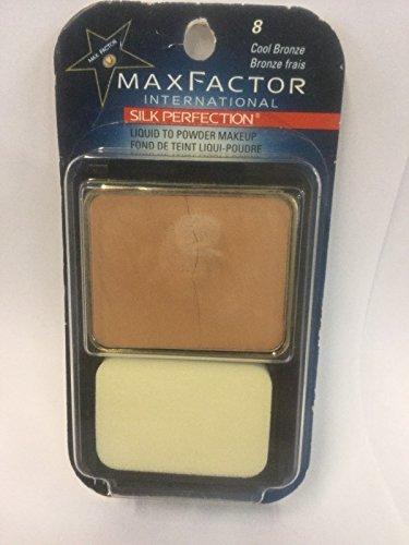 Max Factor Silk Perfection Liquid to Powder Makeup Foundation Cool Bronze Original Formula