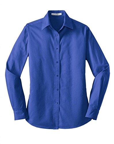 Port Authority Ladies Long Sleeve Value Cotton Twill Shirt. L634 ()
