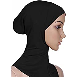 PanDaDa Women Cotton Full Cover Inner Hijab Caps Black