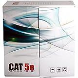Premium Cat5e Ethernet Network LAN Cable 500ft COPPER UTP Bulk Pull Box ( WHITE ) - WireShopper