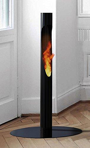 decorpro D10007 Niall Outdoor Firepot Torch, Black , (Black Firepot)