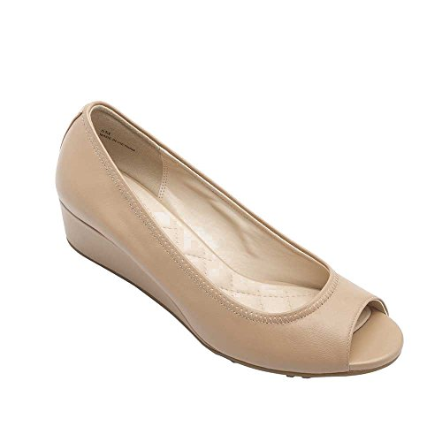 PIC/PAY Sailor Women's Pumps - Peep Toe Wedge Maple Sugar Leather 9.5M -