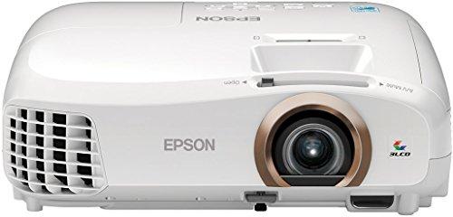 Epson EH-TW5350 3D 3LCD-Projektor (Full HD 1920 x 1080 Pixel, 2.200 Lumen, Farbhelligkeit, 35.000:1 Kontrast, Sceen Mirroring (Miracast/WiDi), Lampenlebensdauer bis zu 7.500 h im Sparmodus) weiß