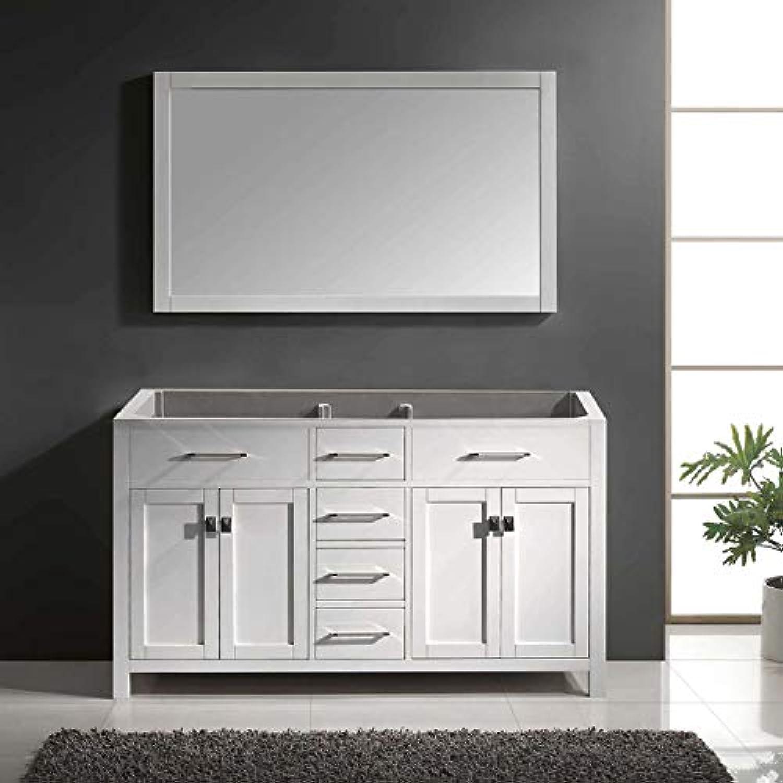 Virtu USA MD-2060-CAB-WH Caroline Bathroom Vanity 60 inches White