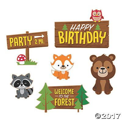 Woodland Party Cutouts - 8 pcs