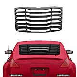 ECOTRIC Rear Window Windshield Louvers Sun Shade Cover ABS for 2003-2008 Nissan 350Z Matte Black