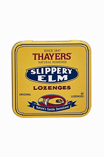 Thayers Original Slippery Elm Lozenges, 42 - Cherry Slippery Elm