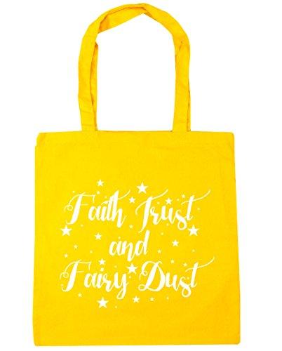 fairy Tote dust 42cm 10 Yellow Bag HippoWarehouse Faith trust x38cm Beach litres and Shopping Gym wIaaXtq