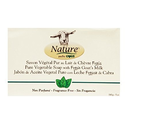 Canus Skin Soap - Nature By Canus Vegetable Bar Soap Skin Care Goat's Milk Soaps Fragrance Free - Bar Soaps 5 Oz. by canus