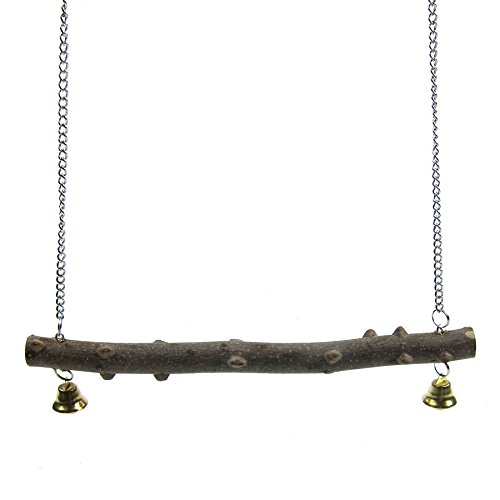Alfie Pet By Petoga Couture   Hanson Wooden Perch Swing Toy For Birds   Size  Small