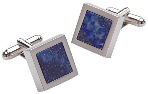 Duncan Walton Mens Mensa Lapis Lazuli Cufflinks - Blue/Silver