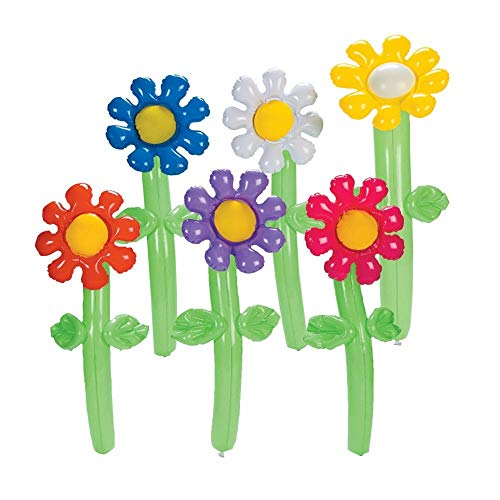 Fun Express Inflatable Flowers Novelty (12 Pack), 24
