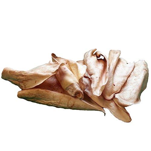Butcher Shop 010204 BBQ Flavor Bulk Bag of 50 Extra Large Cow Ears Dog Bone Treats, Large -