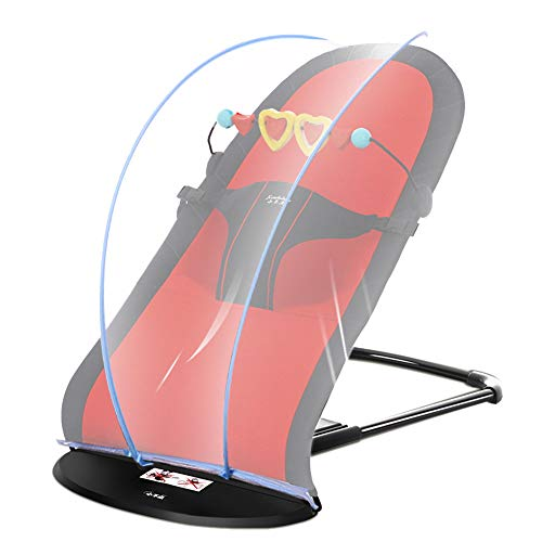 Liitrton Portable Foldable Bouncer Bliss Adjustable Bouncer Bliss for Toddlers Babies Kids (Black/Red)