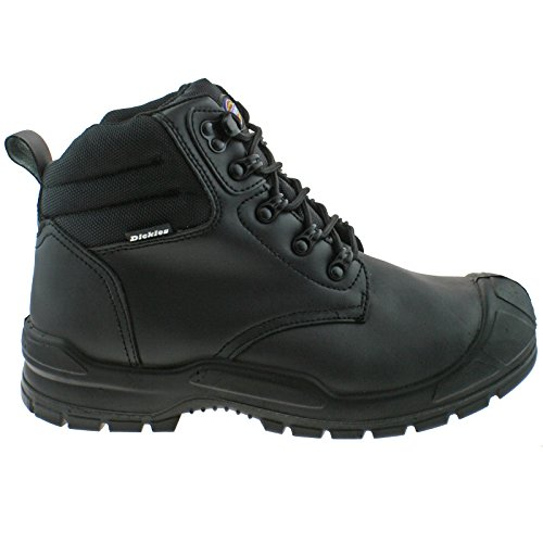 Cap Toe Black Mens Safety Steel Breathable Trenton Dickies Boot Leather YwqBAP