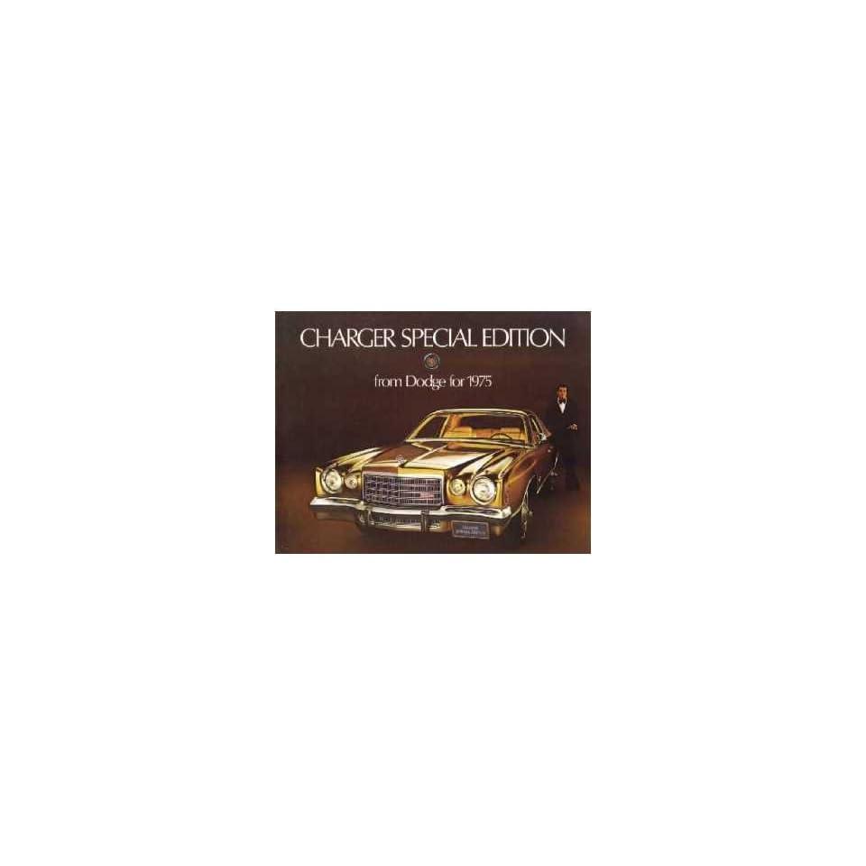 1975 Dodge Charger Sales Brochure Literature Book Piece Dealer Advertisement