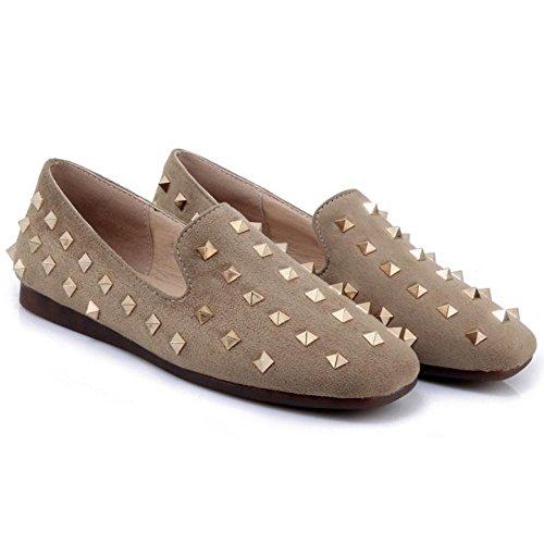 Apricot Moda Plano RAZAMAZA Zapatos de Mujer Tacon Para 06wO4w