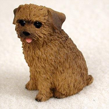 Norfolk Terrier Miniature Dog Figurine