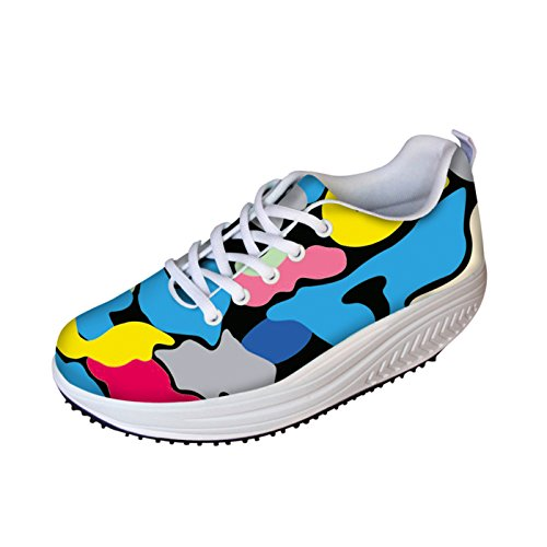 Dellukee Womens Walking Sneakers colorful Mesh Lightweight Athletic Fashion Sneaker Shoes Multicoloured bDBI7