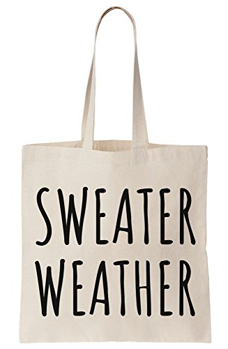Sweater Tote Canvas Pun Bag Weather XqwfRYwP