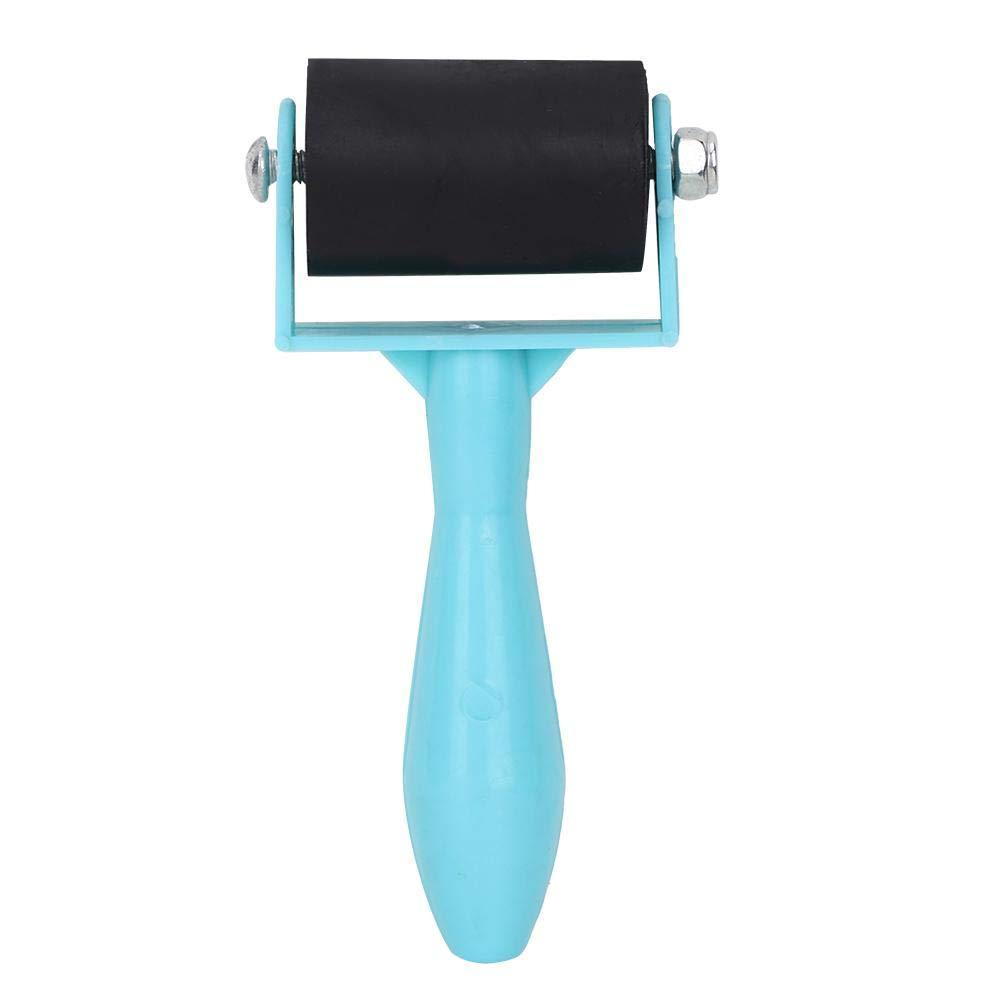 Pasamer 3.5cm Plastic Handle Printmaking Brayer Ink Painting Rubber Roller Art Stamping Tool Blue 02