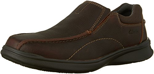 Clarks Men's Cotrell Step Slip-On Loafer, Brown Oily, 10 W US (Clarks Shoe Man)