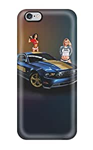 Awesome Mustang & Girls Flip Case With Fashion Design For Iphone 6 Plus