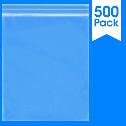 500 Count - 10 X 12, 2 Mil Clear Plastic Reclosable Zip Poly Bags with Resealable Lock Seal Zipper by Spartan Industrial (More Sizes Available)