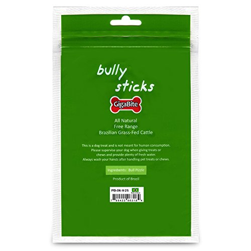 best pet supplies 25 piece odor free plain bully sticks 6 inch ebay. Black Bedroom Furniture Sets. Home Design Ideas