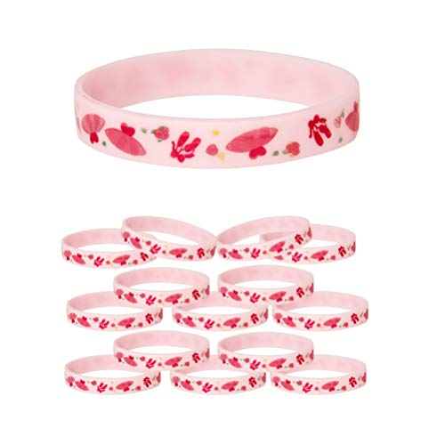 Ballerina Silicone Bracelet 15-Pack Birthday Party Favors Supplies Kids Boy Girl (15-Pack)