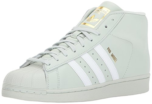 adidas Originals Men's PRO Model Running Shoe, Linen Green/White/Gold Metallic, 8.5 M US