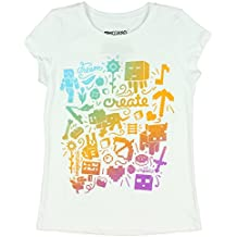 Minecraft Girls' Create Short Sleeve Crew Neck Graphic Tee