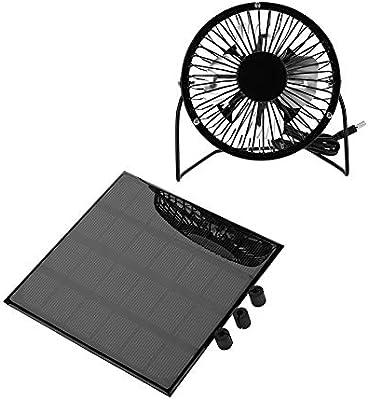 Wolfgo Panel Solar del Ventilador -3W 6V Panel Solar Exterior Mini ...
