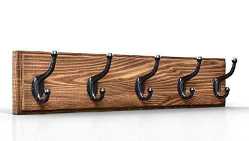 (Coat Rack Wall Mounted Wooden - (33.5