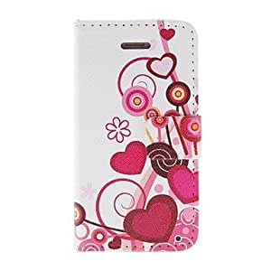 (CASEI)Hi-Q sold out Heart Of The Vines Pattern PU Leather Full Body Case with Stand for iPhone 4/4S